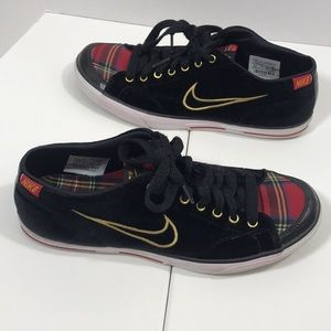 Nike | suede and plaid sneakers